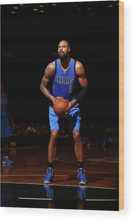 Nba Pro Basketball Wood Print featuring the photograph Tyson Chandler by Nathaniel S. Butler