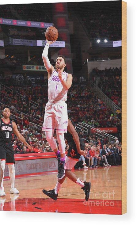 Nba Pro Basketball Wood Print featuring the photograph Tyus Jones by Bill Baptist