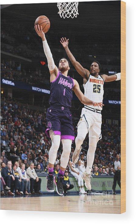 Nba Pro Basketball Wood Print featuring the photograph Tyus Jones by Garrett Ellwood