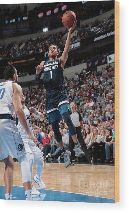 Nba Pro Basketball Wood Print featuring the photograph Tyus Jones by Glenn James