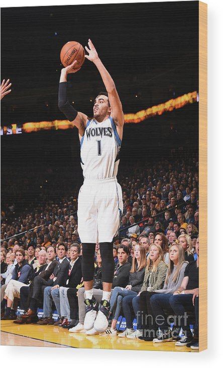 Nba Pro Basketball Wood Print featuring the photograph Tyus Jones by Noah Graham