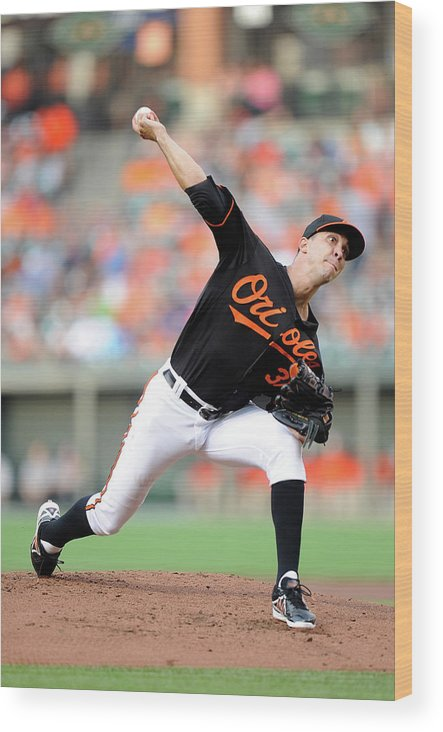 Second Inning Wood Print featuring the photograph Ubaldo Jimenez by Greg Fiume
