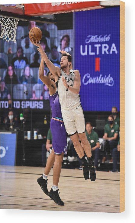 Nba Pro Basketball Wood Print featuring the photograph Utah Jazz v San Antonio Spurs by David Dow