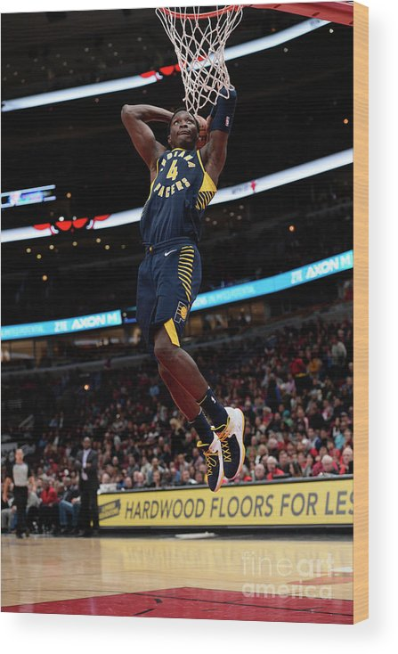 Nba Pro Basketball Wood Print featuring the photograph Victor Oladipo by David Dow