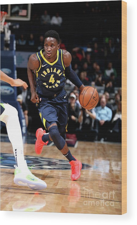 Nba Pro Basketball Wood Print featuring the photograph Victor Oladipo by David Sherman
