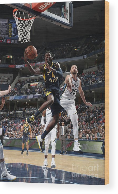 Nba Pro Basketball Wood Print featuring the photograph Victor Oladipo by Joe Murphy