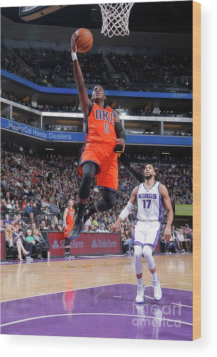 Nba Pro Basketball Wood Print featuring the photograph Victor Oladipo by Rocky Widner