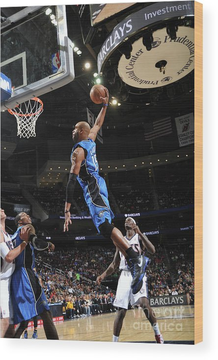 Nba Pro Basketball Wood Print featuring the photograph Vince Carter and Anthony Morrow by Jesse D. Garrabrant