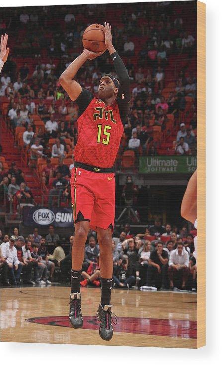 Nba Pro Basketball Wood Print featuring the photograph Vince Carter by Issac Baldizon
