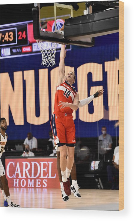 Nba Pro Basketball Wood Print featuring the photograph Washington Wizards v Denver Nuggets by David Dow