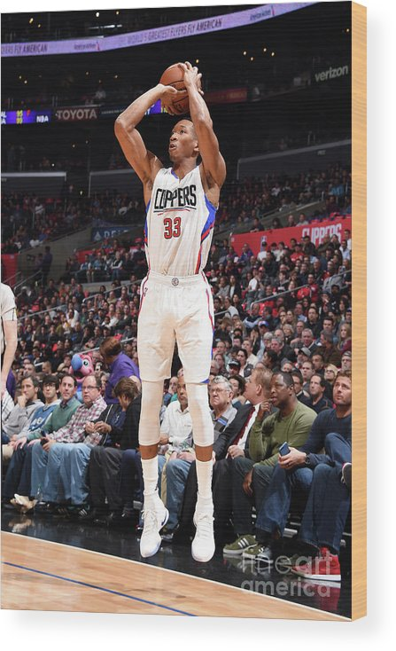 Nba Pro Basketball Wood Print featuring the photograph Wesley Johnson by Andrew D. Bernstein