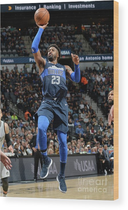 Nba Pro Basketball Wood Print featuring the photograph Wesley Matthews by Mark Sobhani