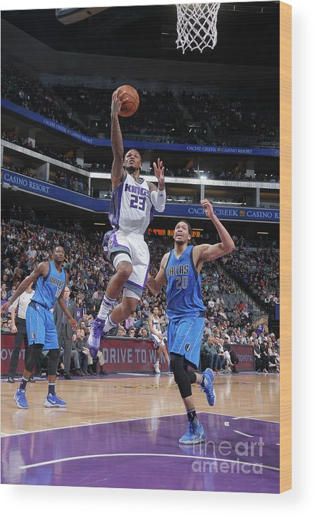Nba Pro Basketball Wood Print featuring the photograph Wesley Matthews by Rocky Widner