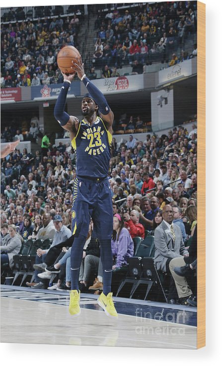 Nba Pro Basketball Wood Print featuring the photograph Wesley Matthews by Ron Hoskins