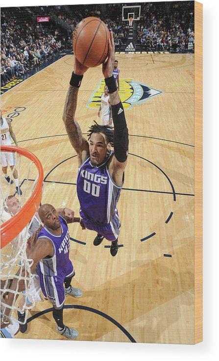 Nba Pro Basketball Wood Print featuring the photograph Willie Cauley-stein by Garrett Ellwood