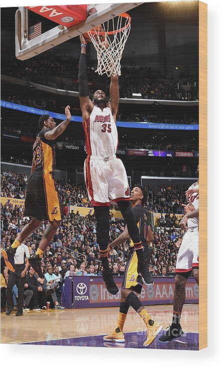 Nba Pro Basketball Wood Print featuring the photograph Willie Reed by Andrew D. Bernstein