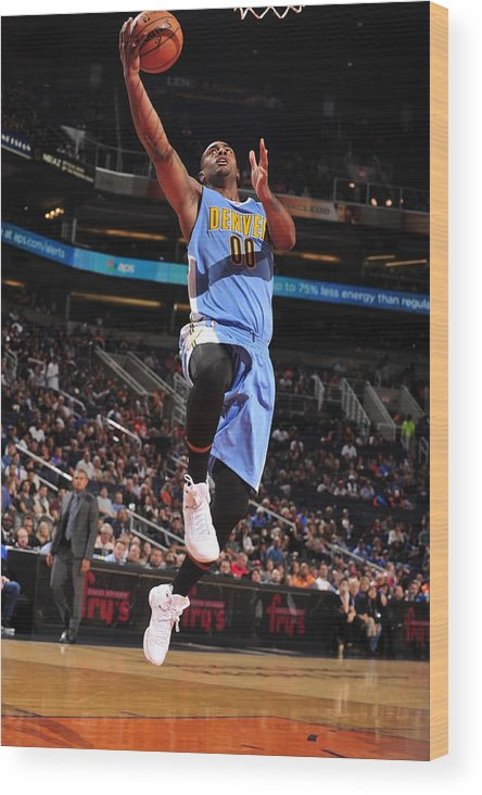 Nba Pro Basketball Wood Print featuring the photograph Wilson Chandler by Barry Gossage