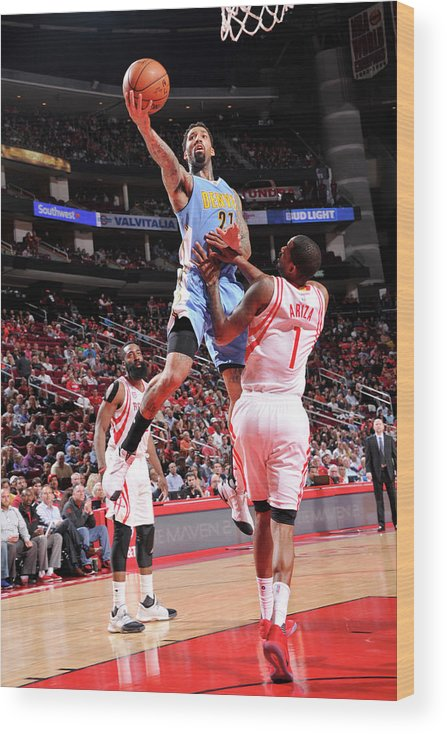 Nba Pro Basketball Wood Print featuring the photograph Wilson Chandler by Bill Baptist