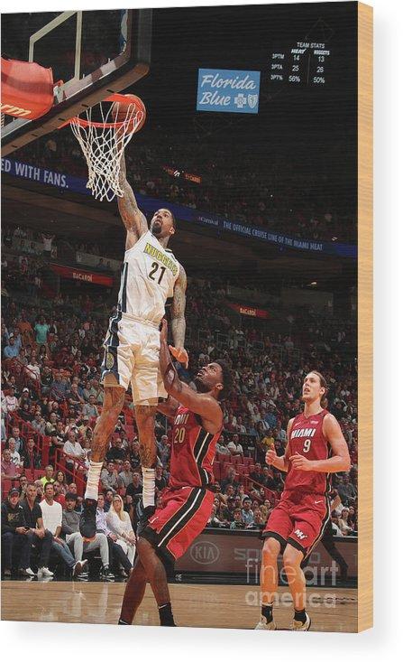 Nba Pro Basketball Wood Print featuring the photograph Wilson Chandler by Issac Baldizon