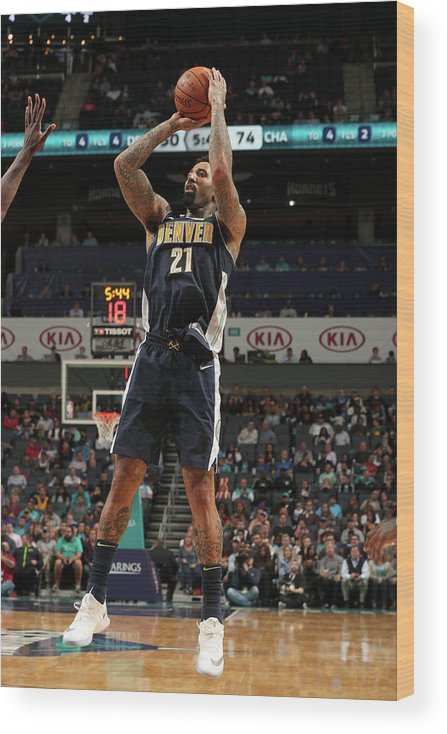 Nba Pro Basketball Wood Print featuring the photograph Wilson Chandler by Kent Smith