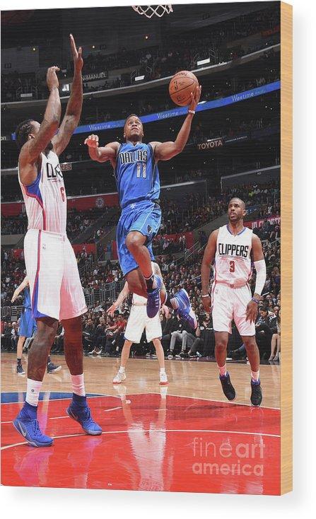 Nba Pro Basketball Wood Print featuring the photograph Yogi Ferrell by Andrew D. Bernstein