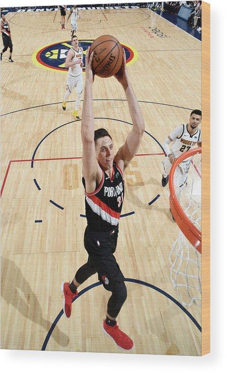 Playoffs Wood Print featuring the photograph Zach Collins by Garrett Ellwood