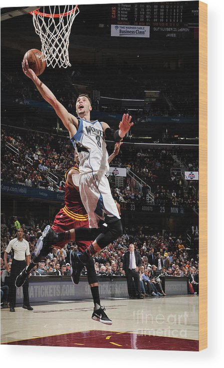 Nba Pro Basketball Wood Print featuring the photograph Zach Lavine by David Liam Kyle