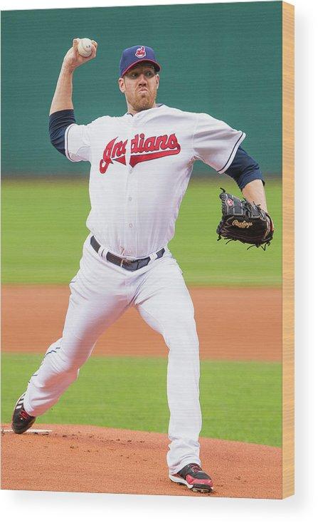 American League Baseball Wood Print featuring the photograph Zach Mcallister by Jason Miller