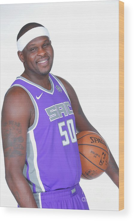 Media Day Wood Print featuring the photograph Zach Randolph by Rocky Widner