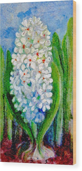 Art Wood Print featuring the painting Hyacinth by Elle Smith Fagan