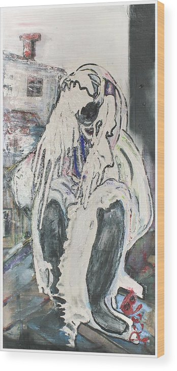 Figurative Wood Print featuring the painting Aasimah by Peggy Blood