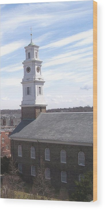 Architecture Wood Print featuring the photograph Into the Blue by Pharris Art