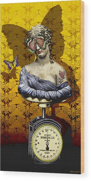 Surrealism Wood Print featuring the digital art Metamorphosis by Larry Butterworth