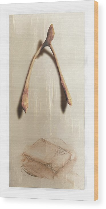 Still Life Wood Print featuring the digital art Leftovers by Nuff