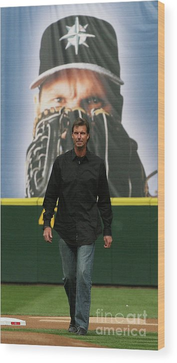 People Wood Print featuring the photograph Randy Johnson by Otto Greule Jr