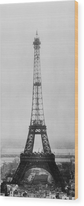 Civil Engineering Wood Print featuring the photograph Eiffel Construction 11 by Henry Guttmann Collection