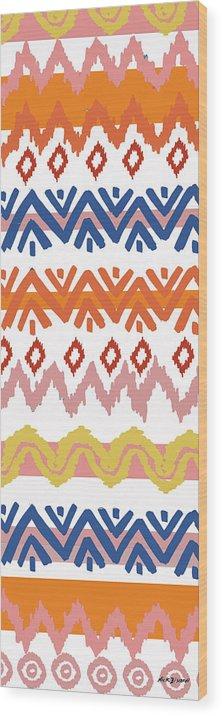 Navajo Wood Print featuring the digital art Southwest Pattern III by Nicholas Biscardi