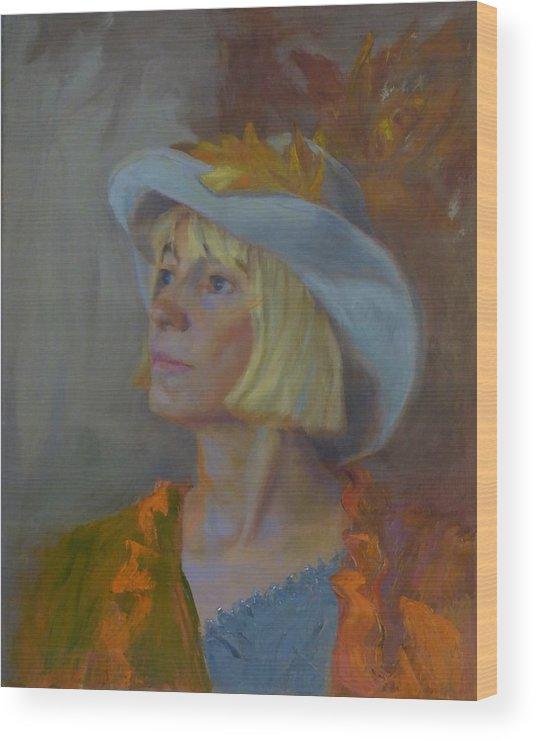 Portrait Wood Print featuring the photograph Autumn Begins by Irena Jablonski