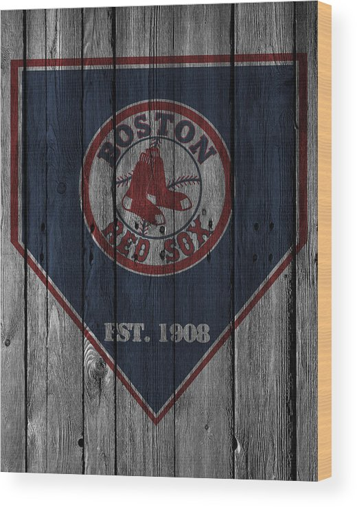 Red Sox Wood Print featuring the photograph Boston Red Sox by Joe Hamilton