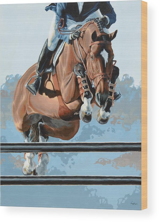 Horse Wood Print featuring the painting High Style by Lesley Alexander