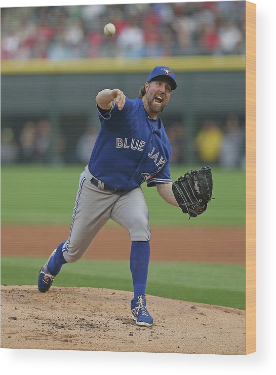 American League Baseball Wood Print featuring the photograph Toronto Blue Jays V Chicago White Sox by Jonathan Daniel
