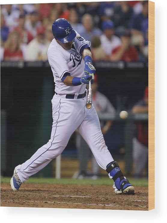 Salvador Perez Diaz Wood Print featuring the photograph St. Louis Cardinals V Kansas City Royals by Ed Zurga