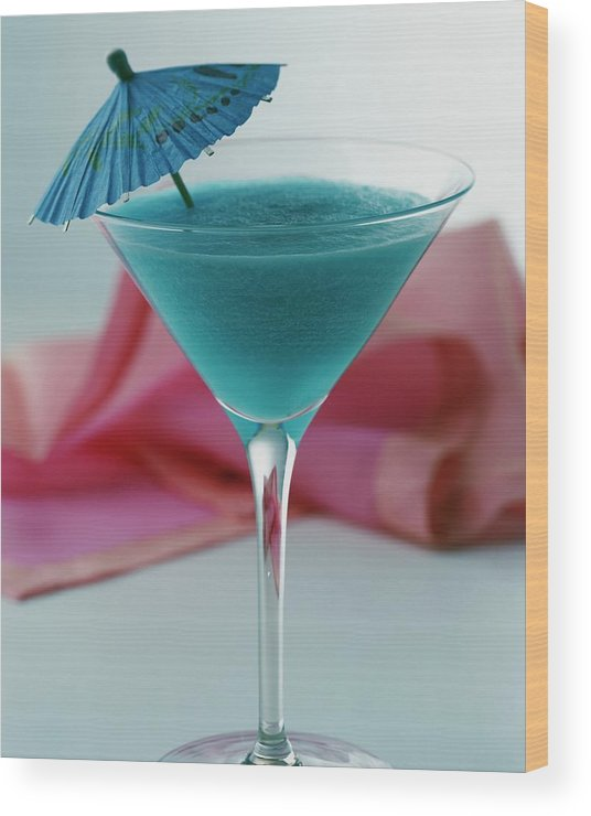 Beverage Wood Print featuring the photograph A Blue Hawaiian Cocktail by Romulo Yanes