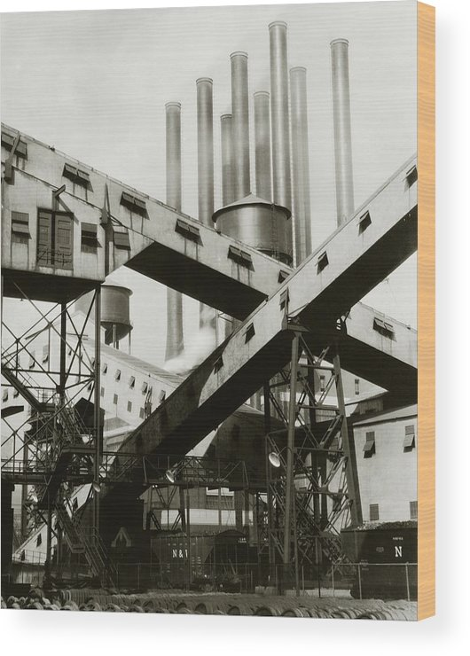 Detroit Wood Print featuring the photograph A Ford Automobile Factory by Charles Sheeler