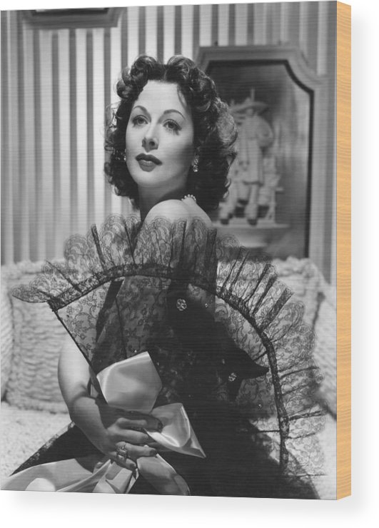 Art Print POSTER Hedy Lamarr with Lace Fan