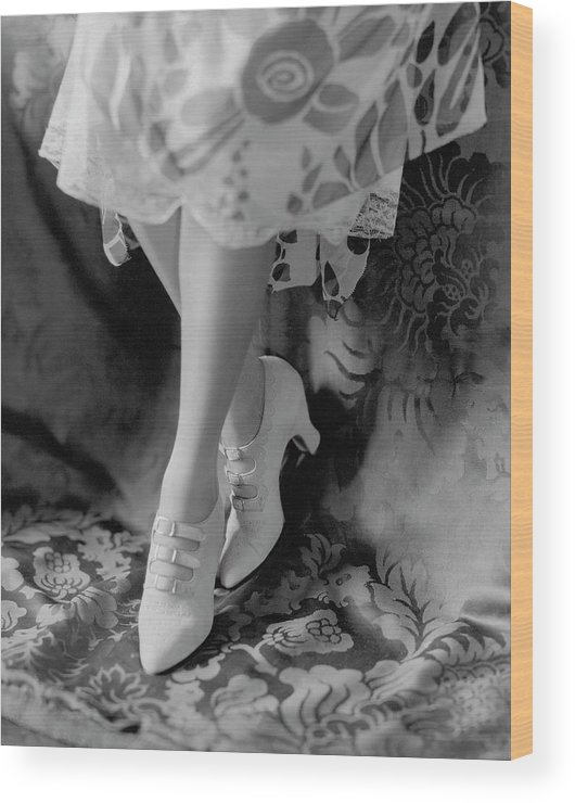 Accessories Wood Print featuring the photograph A Pair Of White Shoes by Edward Steichen