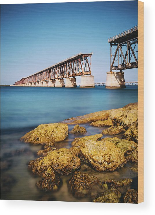 Seascape Wood Print featuring the photograph Bahia Honda State Park Florida by Ferrantraite