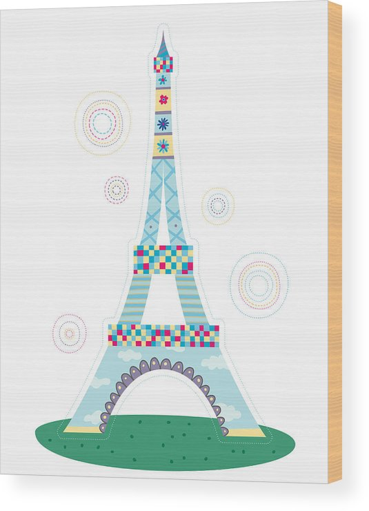 Event Wood Print featuring the digital art Close-up Of Tower by Eastnine Inc.