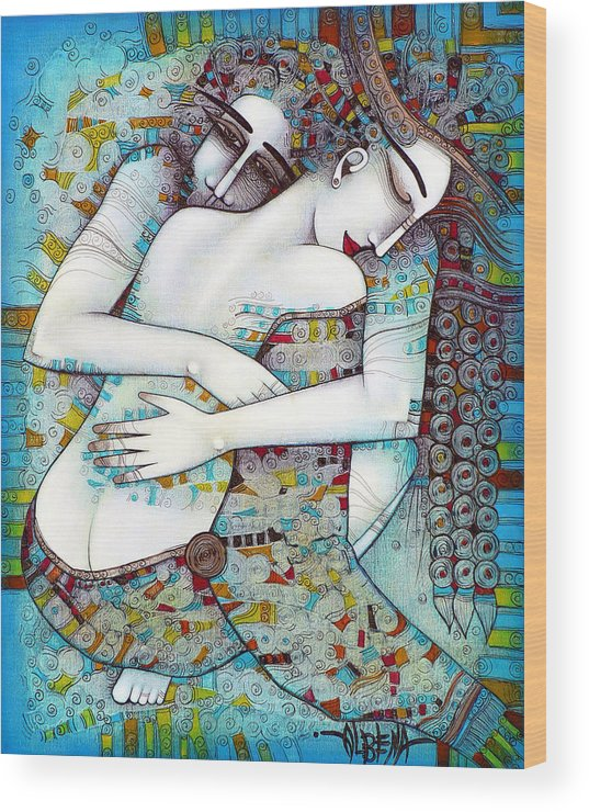 Love Wood Print featuring the painting Do Not Leave Me by Albena Vatcheva