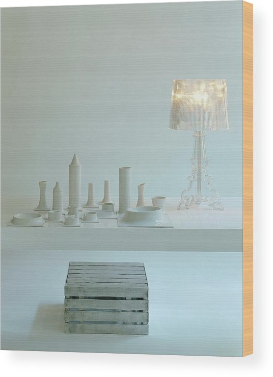 Kitchen Wood Print featuring the photograph Ferruccio Laviani's Bourgie Lamp From Kartell by Romulo Yanes